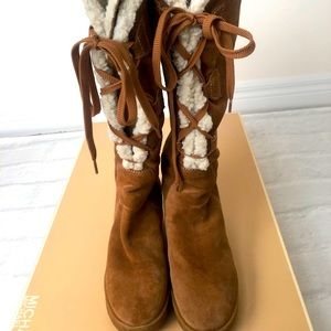 Micheal Kors Lace Up Boots